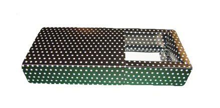 Caixas para 8 Brigadeiros - 20x11,5x4,5 / Preto com Poás Brancas