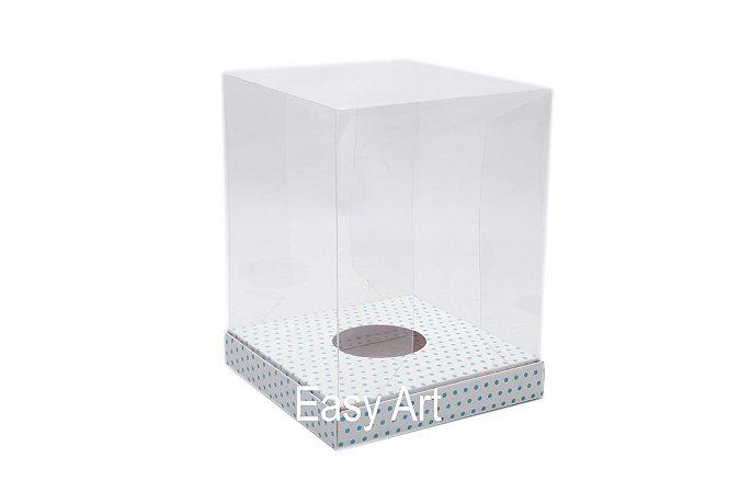 Caixa Ovos de Páscoa / Panetones - Branco Poás Azuis