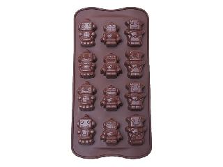 Formas de Silicone para Bombons - Robô - 21X11,5X1,5