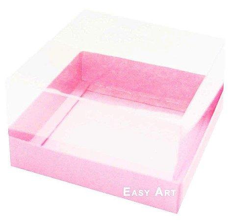 Caixa para Mini Bolos 8x8x6 - Rosa Claro