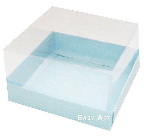 Caixa para Mini Bolos 8x8x6 - Azul Claro