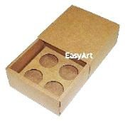 Caixas para 4 Brigadeiros 8,5x8,5x4,5 - Pct com 10 Unidades