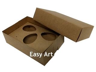 Caixas Ovos de Colher - 3 Ovos de 50 g Cada / Toda Kraft