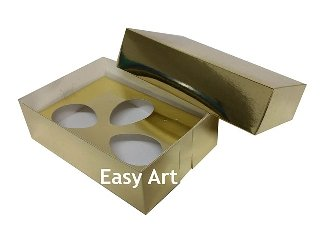 Caixas Trio Ovos de Colher - 100g Dourado