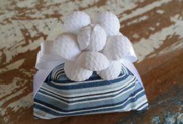 Mini Flores para Bem Casados / Tecido - Mini Camélia