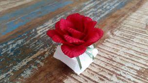 Mini Flores para Bem Casados / Tecido - Gerânio