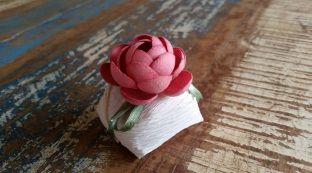 Mini Flores para Bem Casados / Tecido - Mini Amarilis