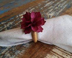 Porta Guardanapos  / Flores de Tecido - Suculenta 2