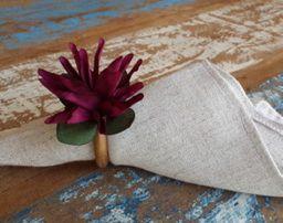 Porta Guardanapos  / Flores de Tecido - Flor de Maio