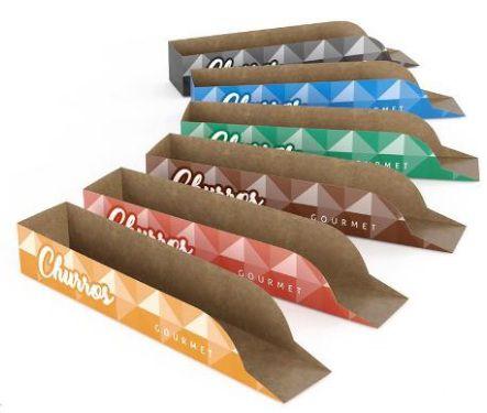 200 Caixas De Churros Modelo Gourmet - Várias Cores