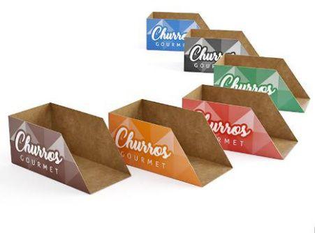 500 Caixas Para Mini Churros Mod. Gourmet - Várias Cores*