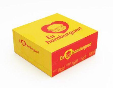 100 Caixas De Hambúrguer 15x15 - Mod. Chef´S