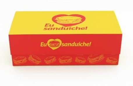 100 Caixas De Sanduiche 12x24 - Mod. Chef´S