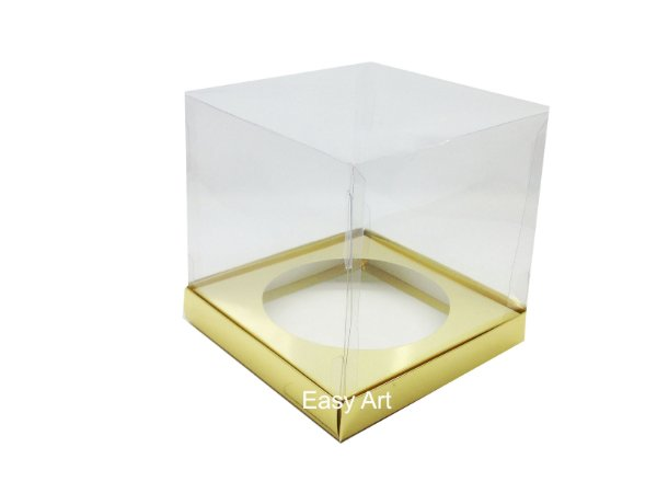 Caixa para Mini Panetones 14x14x14 - Dourado Brilhante