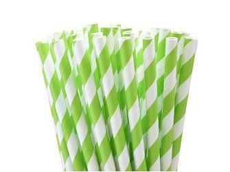 Canudos de papel Listras