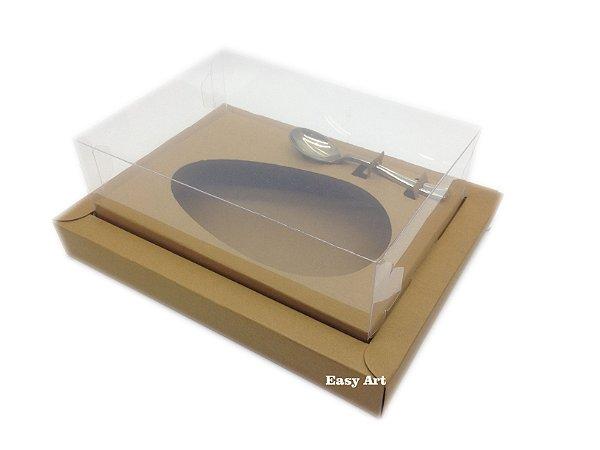 Caixa para Ovos de Colher 250g Marrom Claro - Linha Colors