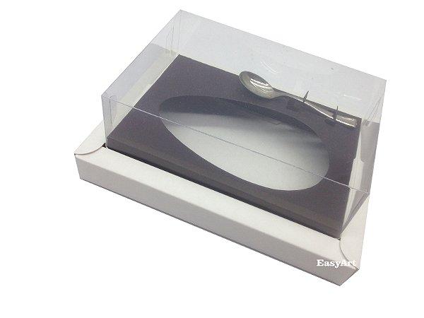 Caixa para Ovos de Colher 250g Branco / Marrom Chocolate