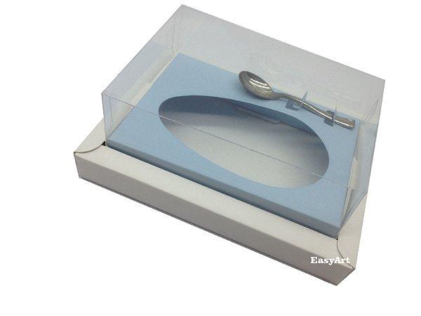 Caixa para Ovos de Colher 250g Branco / Azul Claro