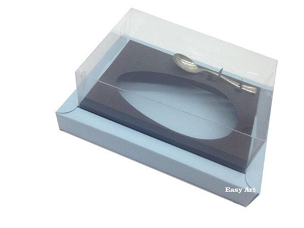 Caixa para Ovos de Colher 250g Azul Claro / Preto