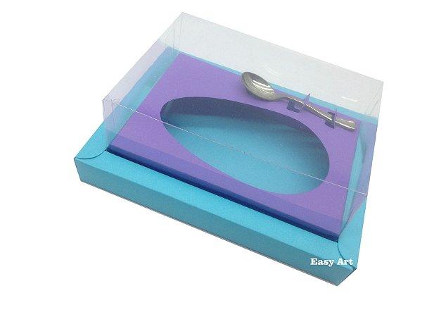Caixa para Ovos de Colher 250g Azul Tiffany / Lilás