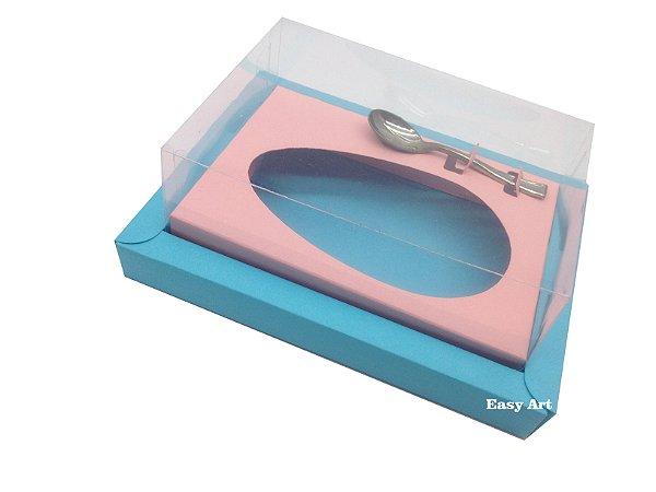 Caixa para Ovos de Colher 250g Azul Tiffany / Salmão