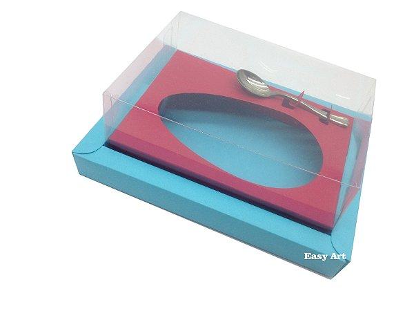 Caixa para Ovos de Colher 250g Azul Tiffany / Vermelho