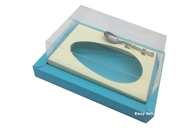 Caixa para Ovos de Colher 250g Azul Tiffany / Marfim