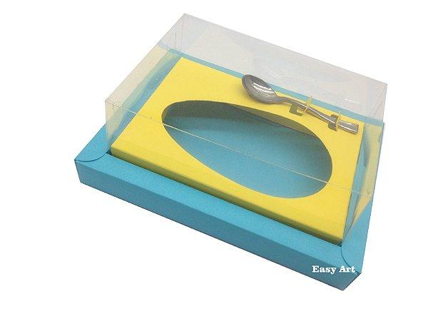 Caixa para Ovos de Colher 250g Azul Tiffany / Amarelo