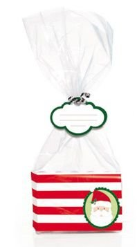 Kit Fundo Retangular Doce Natal - Pacote com 10 Unidades