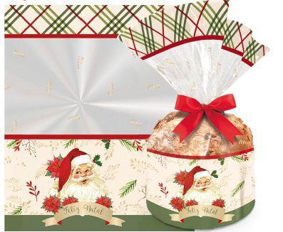 Saco Papai Noel para Panetone de 500g / 01 Unidade