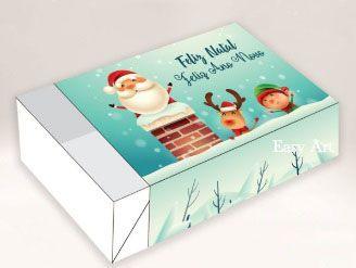 Caixa para 6 Brigadeiros - Feliz Natal e Ano Novo