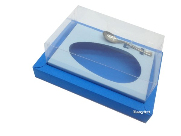 Caixa para Ovos de Colher 250g Azul Turquesa / Azul Claro