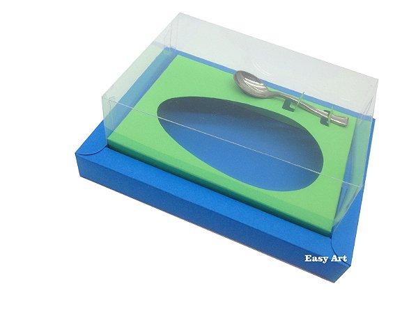 Caixa para Ovos de Colher 250g Azul Turquesa / Verde Pistache