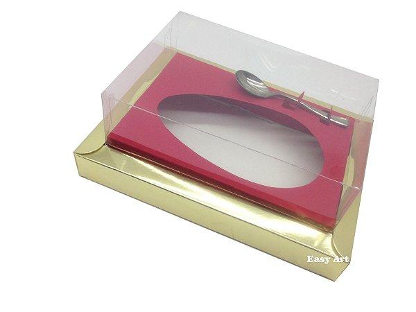 Caixa para Ovos de Colher 250g Dourado / Vermelho