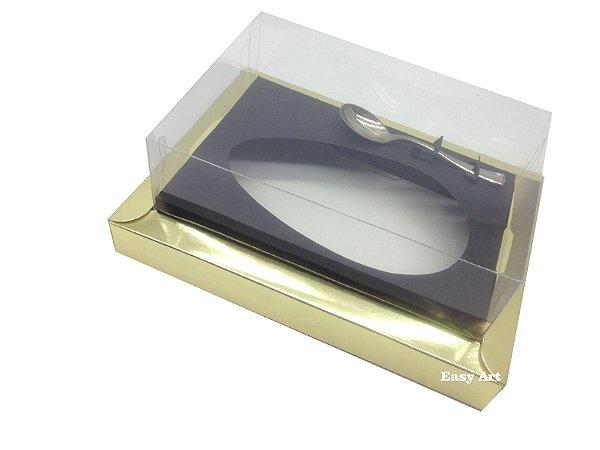 Caixa para Ovos de Colher 250g Dourado / Preto