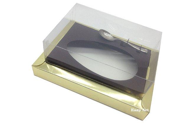 Caixa para Ovos de Colher 250g Dourado / Marrom Chocolate