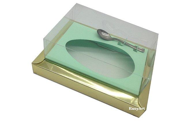 Caixa para Ovos de Colher 250g Dourado / Verde Claro