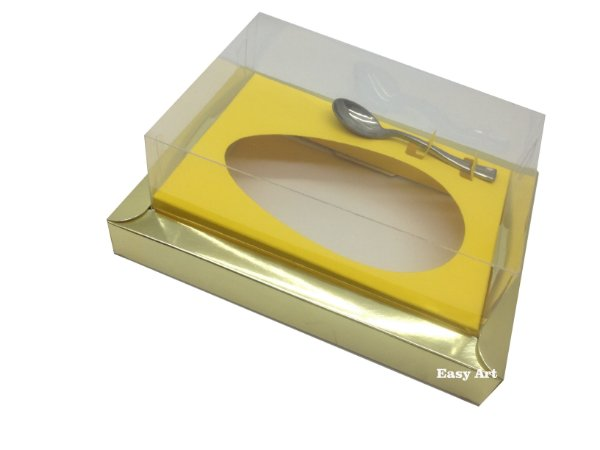 Caixa para Ovos de Colher 250g Dourado / Amarelo