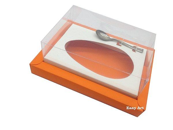 Caixa para Ovos de Colher 250g Laranja / Branco