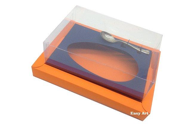 Caixa para Ovos de Colher 250g Laranja / Azul Marinho