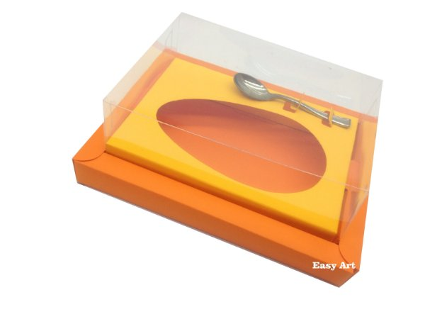Caixa para Ovos de Colher 250g Laranja / Laranja Claro