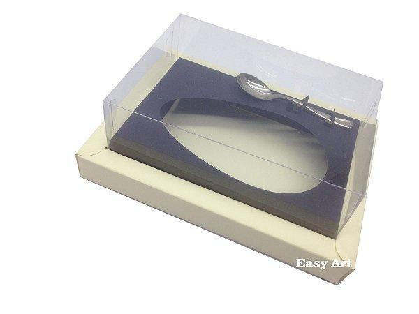 Caixa para Ovos de Colher 250g Marfim / Preto