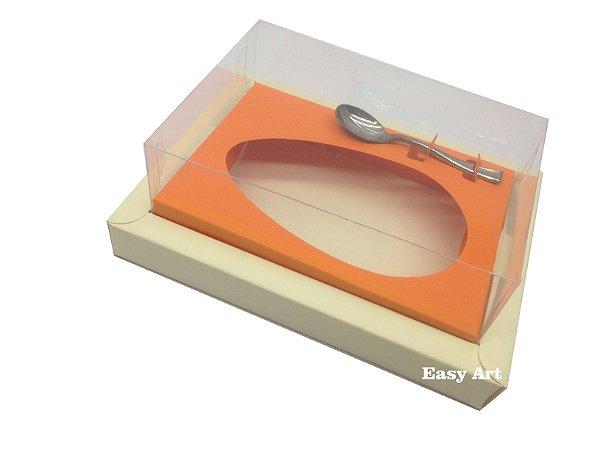 Caixa para Ovos de Colher 250g Marfim / Laranja