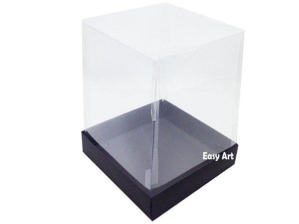 Caixa para Mini Bolos / Mini Panetone 10x10x15 - Preto