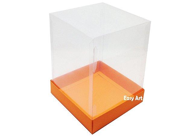 Caixa para Mini Bolos / Mini Panetone 10x10x15 - Laranja