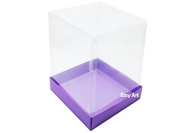Caixa para Mini Bolos / Mini Panetone - Lilás