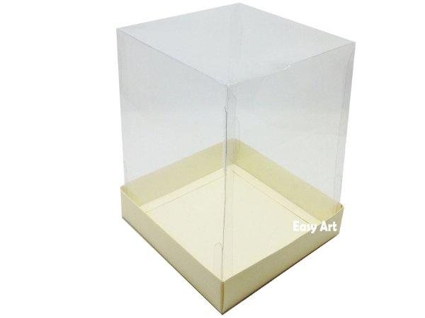 Caixa para Mini Bolos / Mini Panetone - Marfim