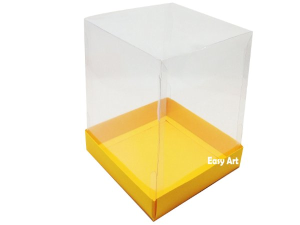 Caixa para Mini Bolos / Mini Panetone - Laranja Claro