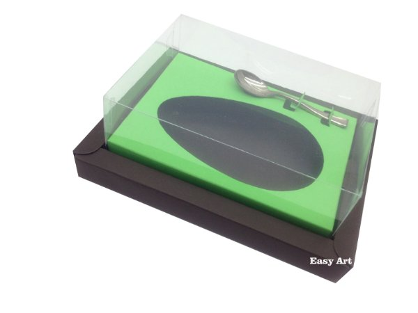 Caixa para Ovos de Colher 250g Marrom / Verde Pistache
