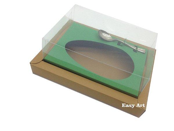 Caixa para Ovos de Colher 250g - Marrom Claro / Verde Bandeira